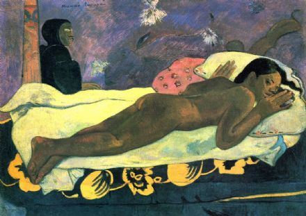 Gauguin, Paul: Manao Tupapau (The Spirit of the Dead Watches). Fine Art Print.  (001536)